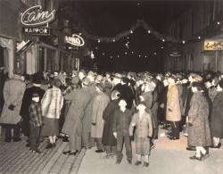 Julskyltning på St. Sigfridsgatan 1955